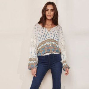 NWT Free People Macra Maze Me Top